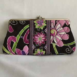 Vera Bradley Purple Punch Clutch Wallet